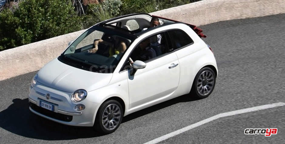 fiat 500 cabrio lounge 1 4 aut alpine 2015 precio en. Black Bedroom Furniture Sets. Home Design Ideas